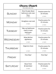 Chore Chart Samples Circle Making Parenting In The Technology Age Easier