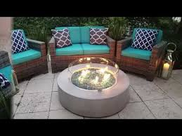 42 round modern concrete fire pit table in gray by akoya outdoor essentials