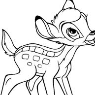 Kleurplaten Van Bambi Het Kleine Hertje