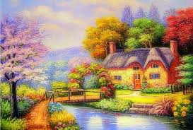 Small Picture Misc Garden Canal Paintings Bridges Canals Love Four Seasons