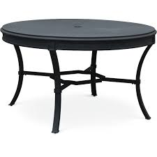 54 inch black round outdoor patio dining table antioch