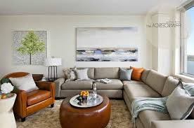 Fancy Curved Sectional Sofa With Thick Backres Casual Living Room  Decorating Ideas Tv Wall Mounted Above Fireplace Simple Round Mirrored  Coffee Table Wooden ...