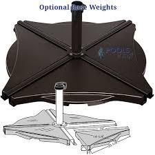 gorgeous patio umbrella base santiago cantilever weights