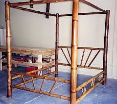 Bamboo four-poster canopy bed. Made to order. | British Colonial ...