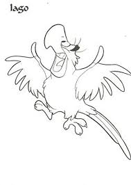 Aladdin Iago Happy Smiling