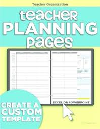 Free Teacher Planner Template Download Planners In Weekly