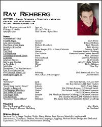 Actors Resume Extraordinary Actors Resume Format Awesome Acting Resume Sample For Beginners