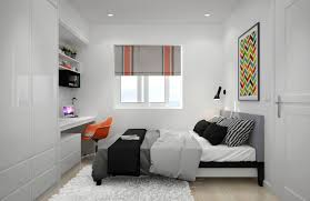 Large Mirror For Bedroom Awesome Small Bedroom With Large Mirror And Window Blinds Also