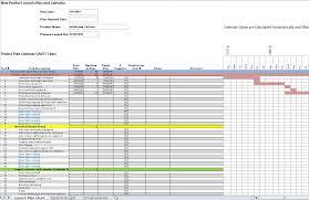 Gantt Chart For New Product Launch Dws Associates Product Launch Project Gantt Chart Budget