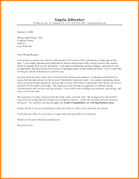 8 Pastry Chef Cover Letter Address Example