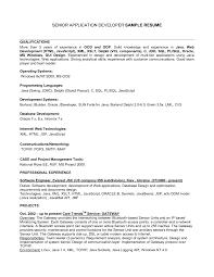 Cover Letter Database Developer Resume Resume Database Developer