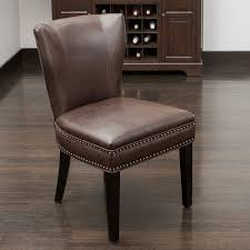 jackie brown leather accent dining chair by christopher knight home