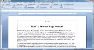 How To Remove Page Number In Ms Word 2007 Lesson 12