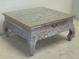 whitewash coffee table. Square Antique Wood Whitewash Coffee Table With Glass Top Design Ideas For Small Space