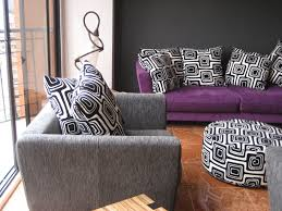 Purple Living Room Decor Purple Living Room Ideas Purple Wall Soft Brown Fabric Riclining
