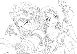 Adult Fairy Tail Anime Coloring Pages Fairy Tail Anime Colouring