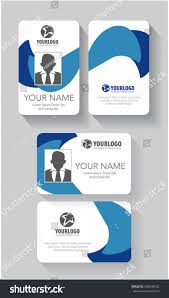 683038732 Card royalty Template Free Stock Abstract Creative Id Vector Blue