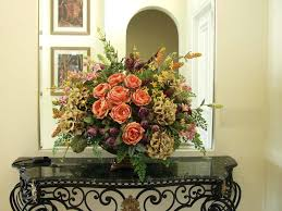 Silk Floral Arrangements Kitchen Floral Arrangements For Dining Room Table  In Stylish Home Improvement Silk Floral