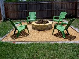 Outdoor Green Chairs For Simple Backyard Using Cute Patio Ideas On