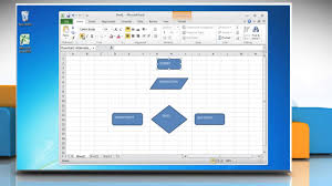 process maps in excel how to make a flowchart in excel 2010 youtube