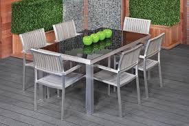furniture modern wood outdoor dining furniture with arm chairs