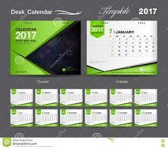Calender Design Template Set Green Desk Calendar 2017 Template Design Cover Desk Calendar