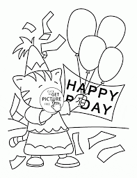 Small Picture Happy Birthday Card for Kids coloring page for kids holiday