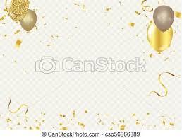 Celebration Background Template Ribbon Gold Sparkles Elegant Style Vector Illustration