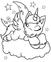 printable unicorn coloring pages for s learning free