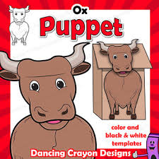 Check out our year of the ox selection for the very best in unique or custom, handmade pieces from our shops. Ox Craft Activity Paper Bag Puppet Template By Dancing Crayon Designs