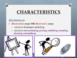 illustration example essay ppt video online  illustration example essay 2 characteristics