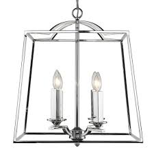 golden lighting athena ch 4 light chrome pendant