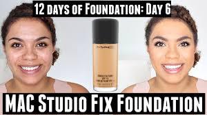 mac studio fix fluid foundation review oily skin 12 days of foundation day 6