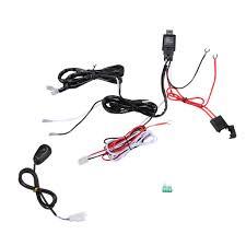universal 40a 12v led work fog light bar wiring harness kit on off universal 40a 12v led work fog light bar wiring harness kit on off switch relay