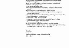 Visual Merchandiser Resume Best Of Sample Resume For Retail
