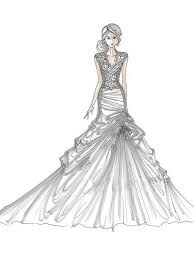 Of Wedding Dresses Coloring Pages For Kids And For Adults Color