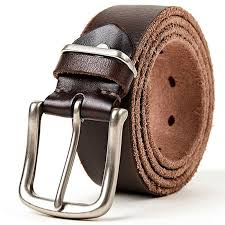 details about men s leather belt high quality plain cow skin personality pin buckle strap