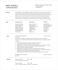 Resume Objective Samples Customer Service Sample Customer Service Objective 8 Examples In Pdf Word