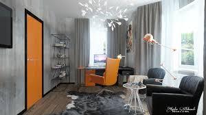 orange office furniture. Home Orange Theme Workspace Interior Decor Office Furniture