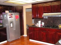 Kitchen Cabinets Stain Colors Island Under Twin Branched Chandeliers Color Scheme Kitchen