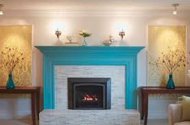 bathroom especial fireplace decorating mantel tv over fi colorful fire inside paint colors groovy color