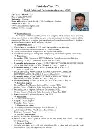 Curriculum Vitae (CV) Health Safety and Environmental engineer (HSE)  MECHTRI ABDELAALI Date