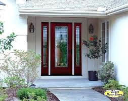 fiberglass front entry doors with glass double front door with sidelights for decor front door glass