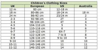 Baby Clothes Size Chart European Shop Abroad With These Clothing Size Conversion Charts
