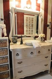 antique dresser made into a bathroom sink for the home in chic small bathroom vanities