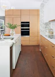 A Mid Century Modern Kitchen With A Creative Storage Solution In