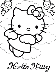 Small Picture Hello Kitty Angel Coloring Pages Coloring Hello Kitty Coloring