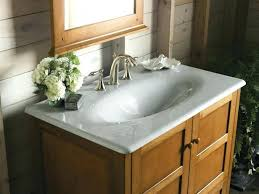 one piece bathroom sink and countertop sinks master ideas