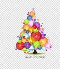 christmas tree bubble light cartoon
