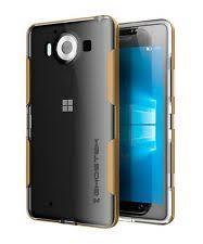 microsoft lumia 950. ghostek cloak slim protective premium metal clear tpu case cover for lumia 950 microsoft